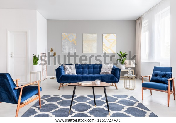 Real Photo Modern Living Room Interior Stock Photo (Edit Now ...