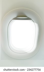 real photo of plane window with copy space for background ,backdrop using