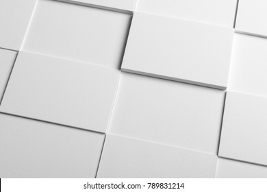Real photo stack of business cards mockup template, isolated on light grey background to place your design.  - Shutterstock ID 789831214