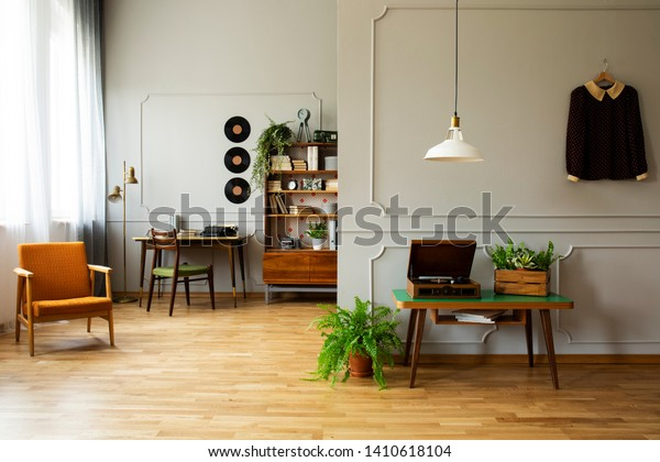 Real Photo Vintage Living Room Orange Stock Photo Edit Now 1410618104