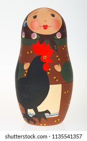 A real Russian doll matryoshka with chicken