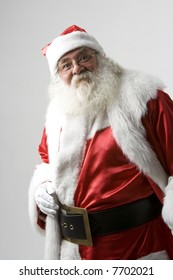 A real Santa Claus portrait taken at the South Pole