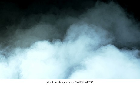 Real Smoke on a black background - realistic overlay for different projects.