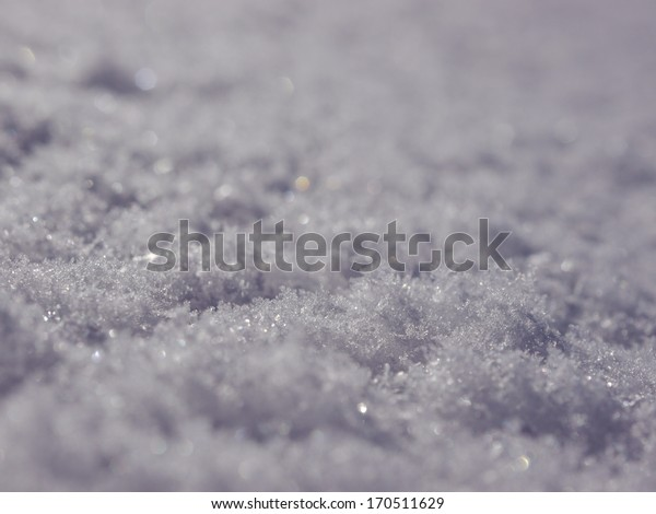Real snow surface cover for background texture usage