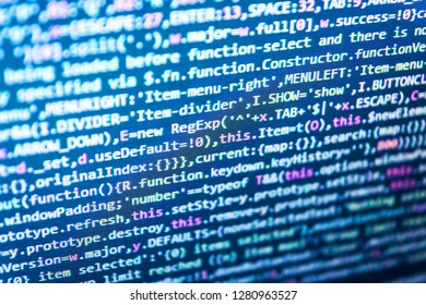Real software development code,  Software data monitor new function,  Source abstract algorithm concept,  Business, coding and Abstract computer concept