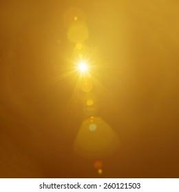 Real sun flair
