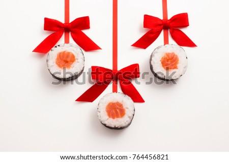 Real sushi set Christmas