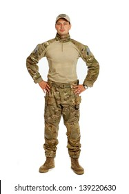 The real U.S. Army soldier, Sgt. Isolated on white background