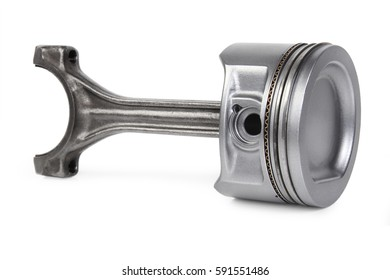 real used alluminium piston isolated over white background