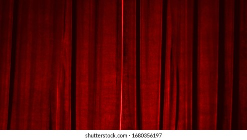 Real Velvet Cloth Stage silk Curtain. Curtain For theater, opera, show, stage scenes. Real Cinematic Curtain Photo. Glittering cloth.