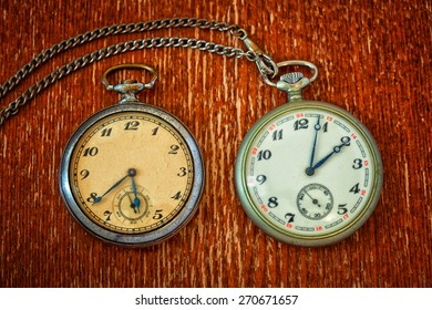 real vintage pocket watch with chain
