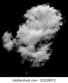 Real white and grey cloud looking like steam isolated on white background. Cloud of white smoke.