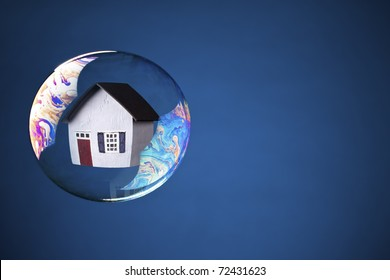 Real-Estate Bubble with copy space