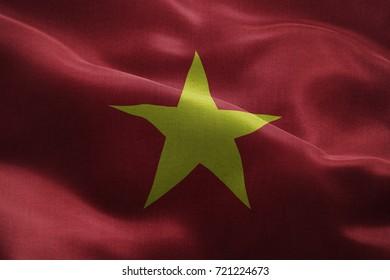 Realistic 3D Flag of Vietnam
