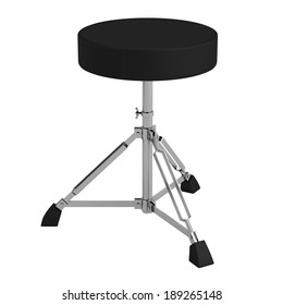 realistic 3d render of drum chair