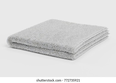Realistic 3D Render of Folded Towel