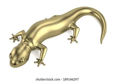 realistic 3d render of golden salamander