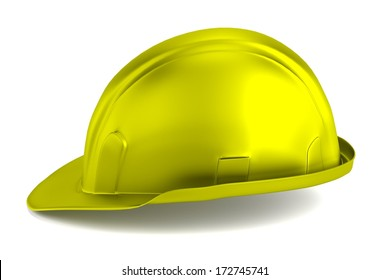 realistic 3d render of hard hat