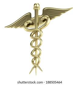 realistic 3d render of medical sign