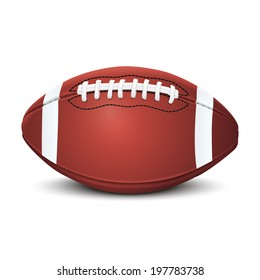 Realistic american football ball isolated on white background. Raster copy