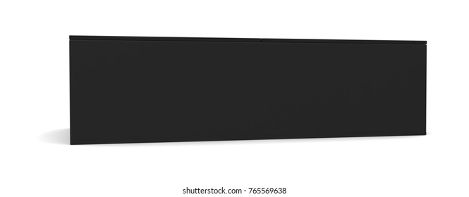 Realistic black blank box for design and logo isolated on white background. 3d illustration