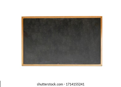 Realistic chalk board isolated on background