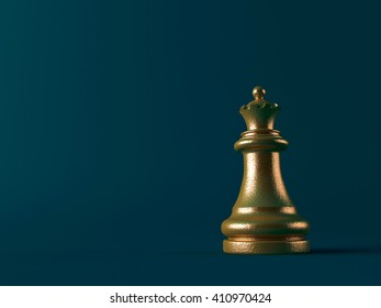 Realistic chess figures made in 3d in silver and gold