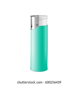 Realistic cigarette lighter. 3d Illustration isolated on white background. Graphic concept for your design