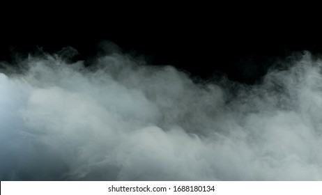 Realistic Clouds on black dark Background
