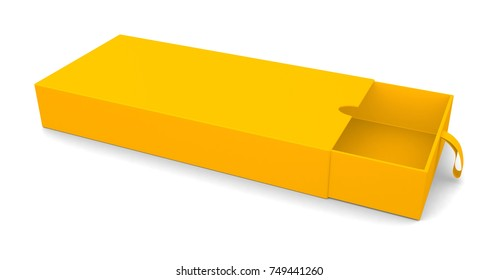 Realistic colorful open box isolated on white background. 3d illustration