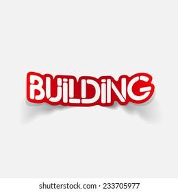 realistic design element: building