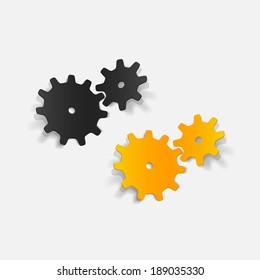 realistic design element: cogwheel