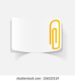 realistic design element: paper clip