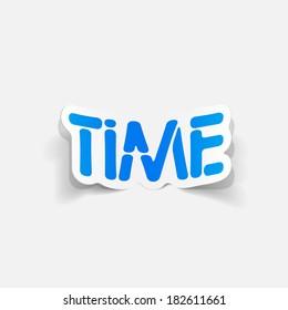 realistic design element: TIME