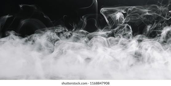 Realistic dry ice smoke clouds fog
