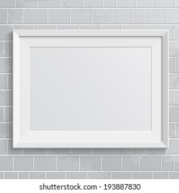 Realistic frame. Perfect for your presentations