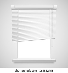 Realistic home related blinds illustration isolated on white