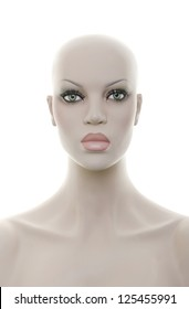 Realistic mannequin head and torso - Front view