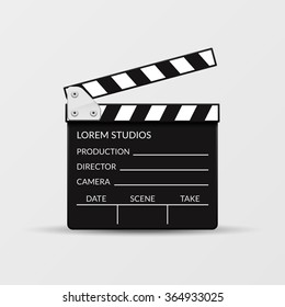 Realistic movie clapperboard