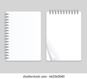 Realistic Note Template Blank Set Empty Mock Up Place for Your Text. illustration