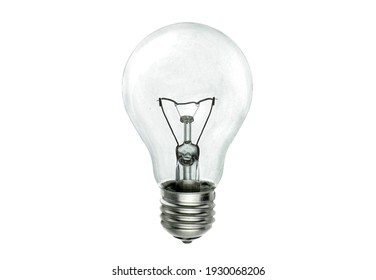 Realistic photo of simple light bulb isolated on white background