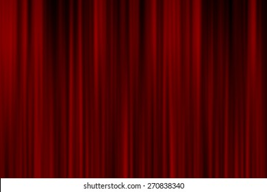Realistic red curtain