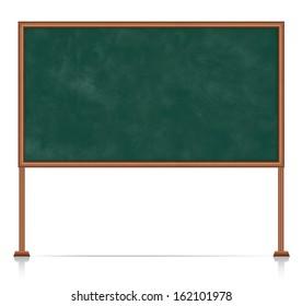 Realistic school blackboard on white