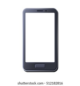 Realistic Smart Phone on White Background. illustration