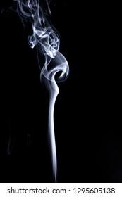 Realistic smoke set on dark background. Cigarettes smoke. Cigarette smoke waves