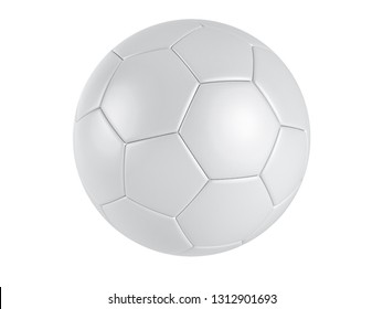 realistic soccer ball with white background