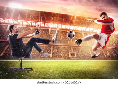 Realistic soccer video game