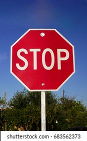 Realistic Stop Sign