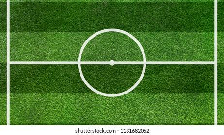 A realistic textured grass football / soccer field.