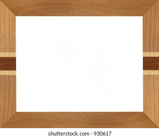 Realistic wooden picture frame.